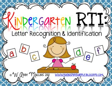 RTI & Kindergarten Activity Freebie