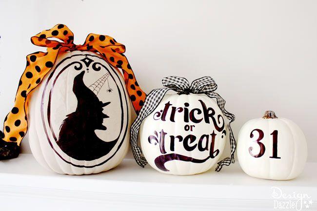 Sharpie Art Pumpkins with free printables! Design Dazzle: