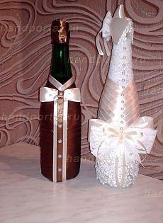 Мастер-класс по украшению свадебных бутылок   Искусница