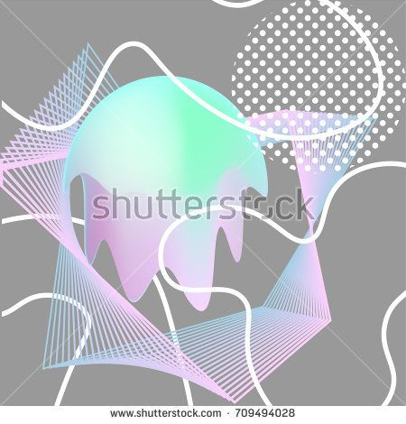Modern geometric abstract background in memphis style. Vector templates for banners, flyers, covers, presentations and vintage design. Poster for events.