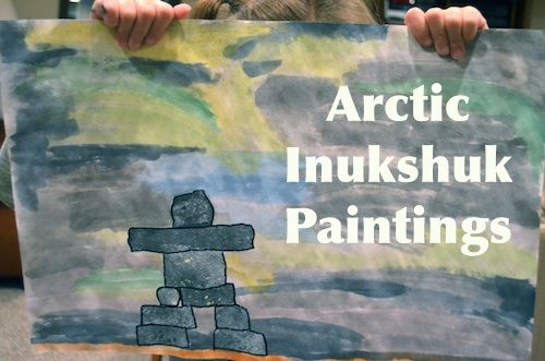 What a cool cultural art project! Arctic Inukshuk Paintings Inuit- Kid World Citizen