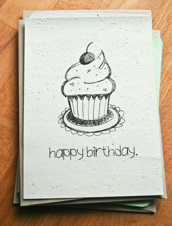 Идея для открытки на день рождения рисунок