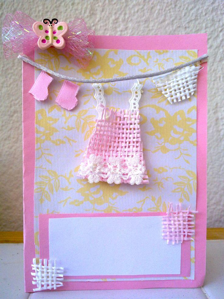 Christening, birthday or born-day cards