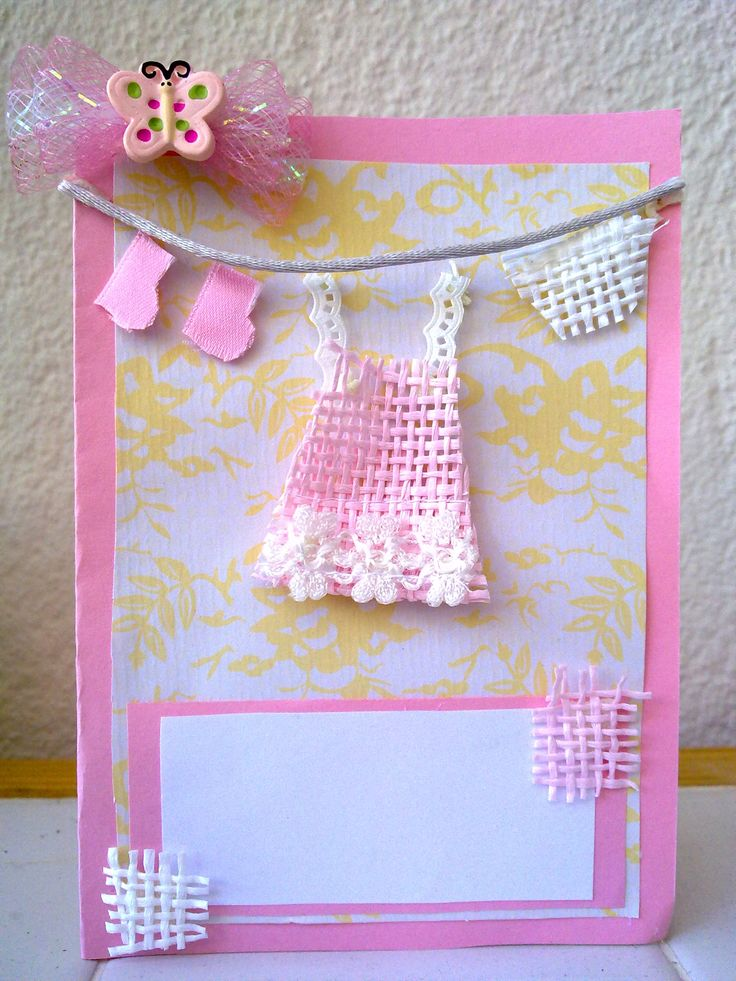 Christening, birthday or born-day cards