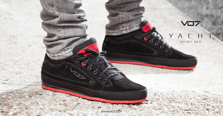 VO7 Yacht Velvet Red  Men Shoes Streetchic Black Sneakers