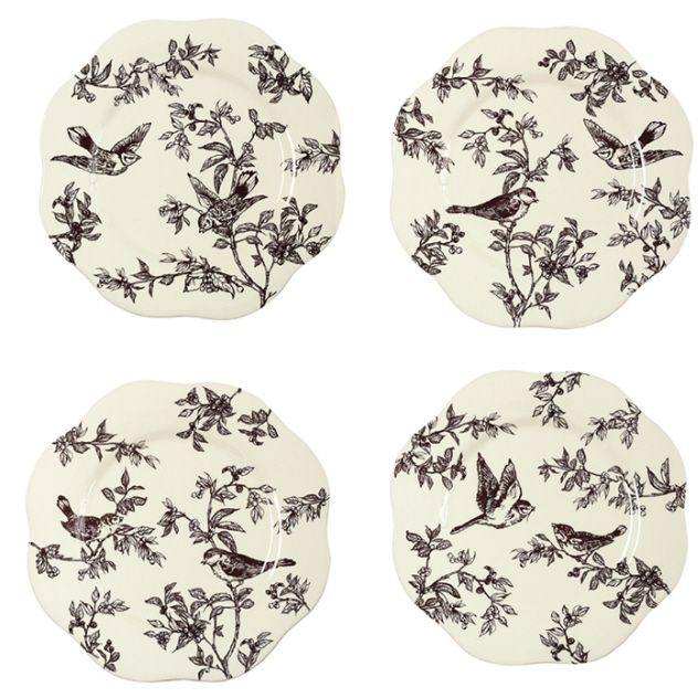 J. Willfred Ceramics Bird Toile Dinner Plates Set of 4 Assorted  sc 1 st  Pinterest & 57 best The toiles images on Pinterest | Canvases Dish sets and ...