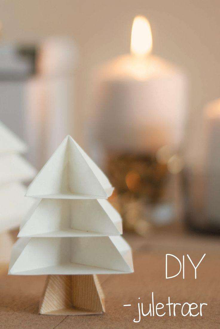 DIY - origami tree folding instructions here: http://stephensorigami.blogspot.co.uk/2010/12/origami-christmas-tree-tutorial.html