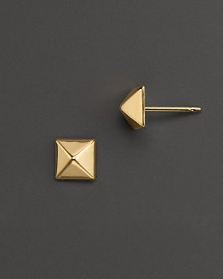 Small 14k gold pyramid studs...I just got paid today...should I get them?  Survey says yes!!!