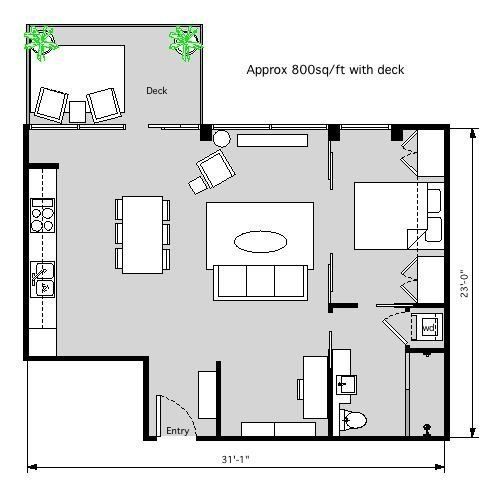 3 Distinctly Themed Apartments Under 800 Square Feet With Floor Plans: 1000+ Ideas About Small Apartment Plans On Pinterest