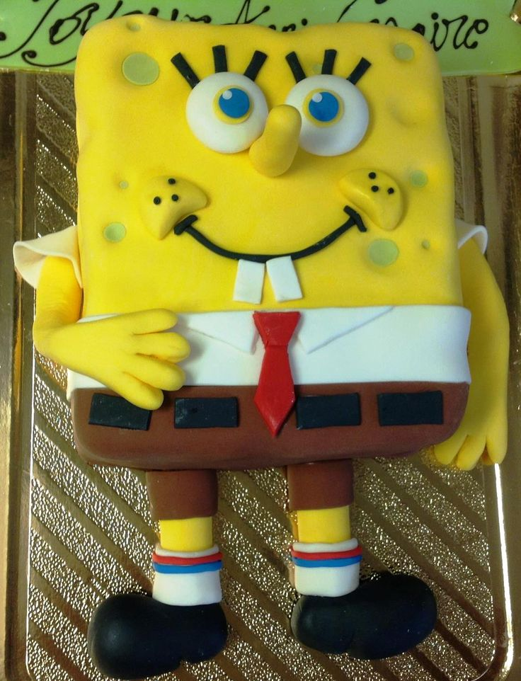 Sponge Bob 2D cake... Guess who's going to have the best birhtday ever !