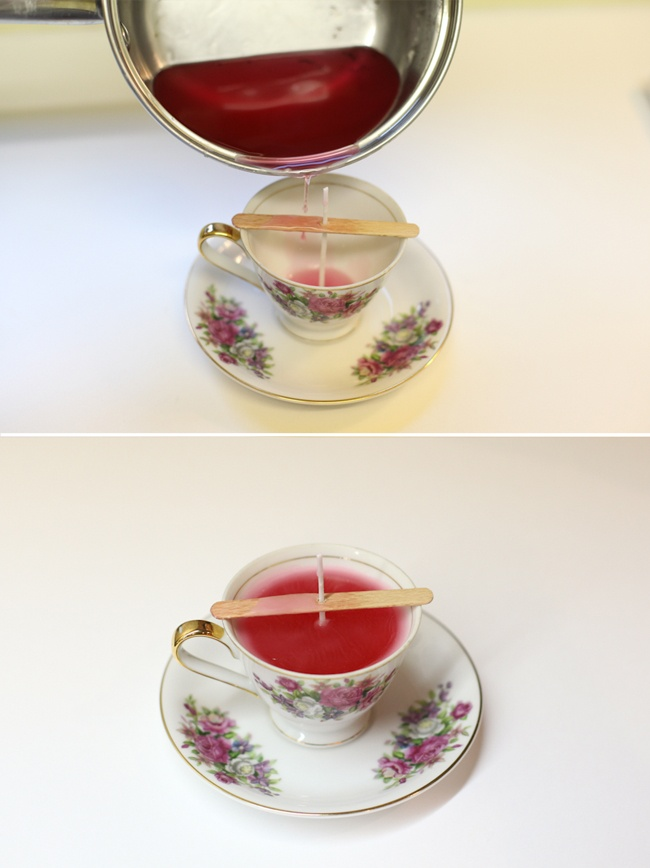 vintage teacup candles with really good step by step how to with photos: Ideas Vintage Teacups, Gifts Ideas Vintage, Photos I, Photos Teas Parties, Candles Ideas