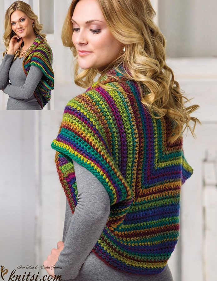 Free Knitting Pattern For A Gilet : 348 best Crochet Gilet, jaquette images on Pinterest Ponchos, Crochet cloth...