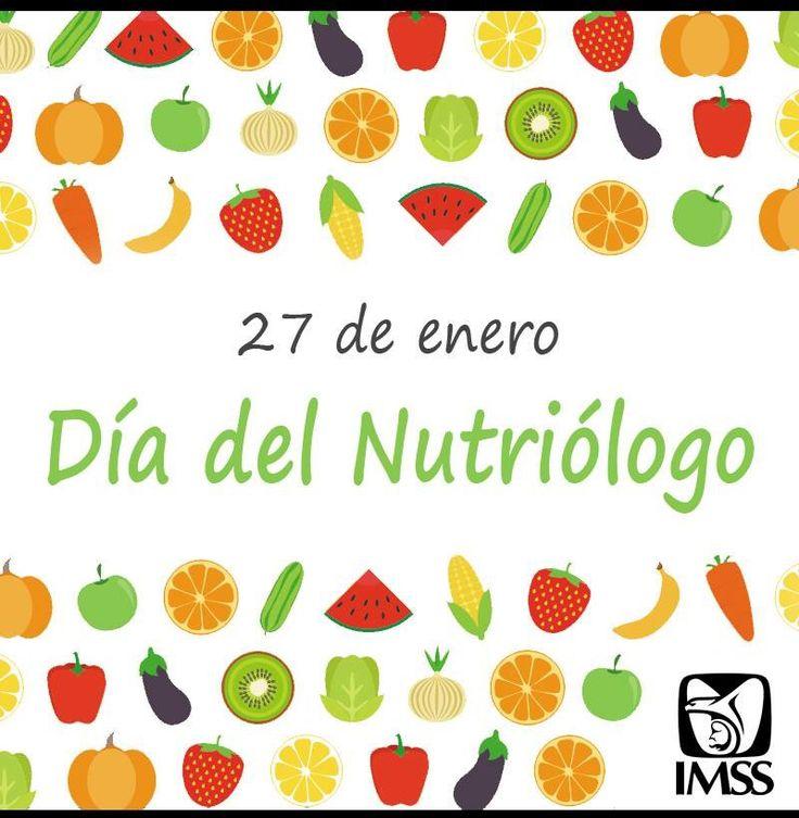 27 de enero día del nutriologo  IMSS
