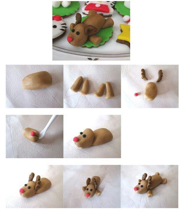 Reindeer Christmas Topper Picture Tutorial - #diy, #reindeer, Christmas