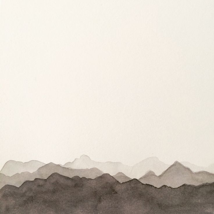 Mountains in watercolor
