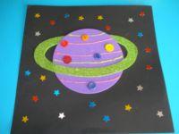 Planète colorée ciel étoilé - 1