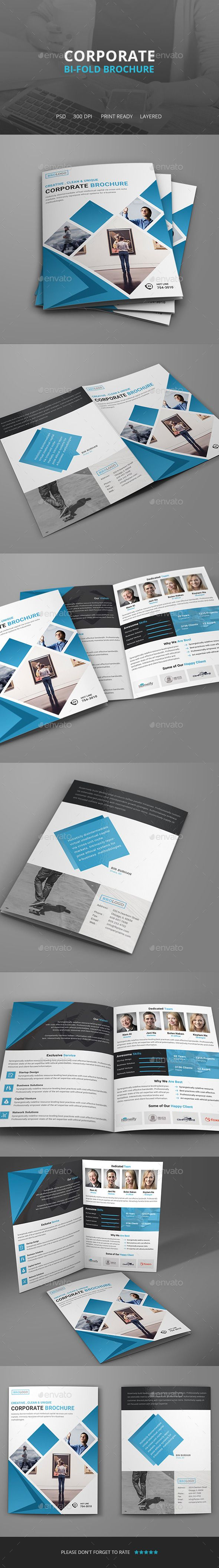 Corporate Bi-Fold Brochure Tempalte #design #brochure Download: http://graphicriver.net/item/corporate-bifold-brochure-/11686116?ref=ksioks