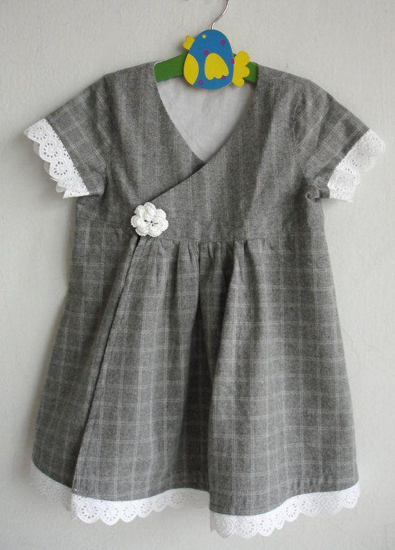 Little Grey Winter Dress by Hipolita on Etsy, $37.00