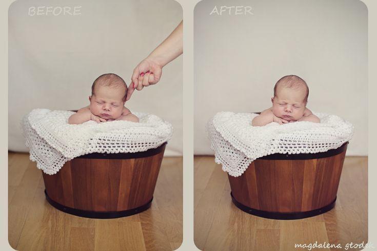 fotografia noworodkowa, bezpieczeństwo noworodka podczas sesji, safety newborn