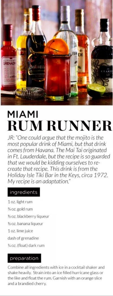 Miami Rum Runner Recipe Credit: Pottery Barn
