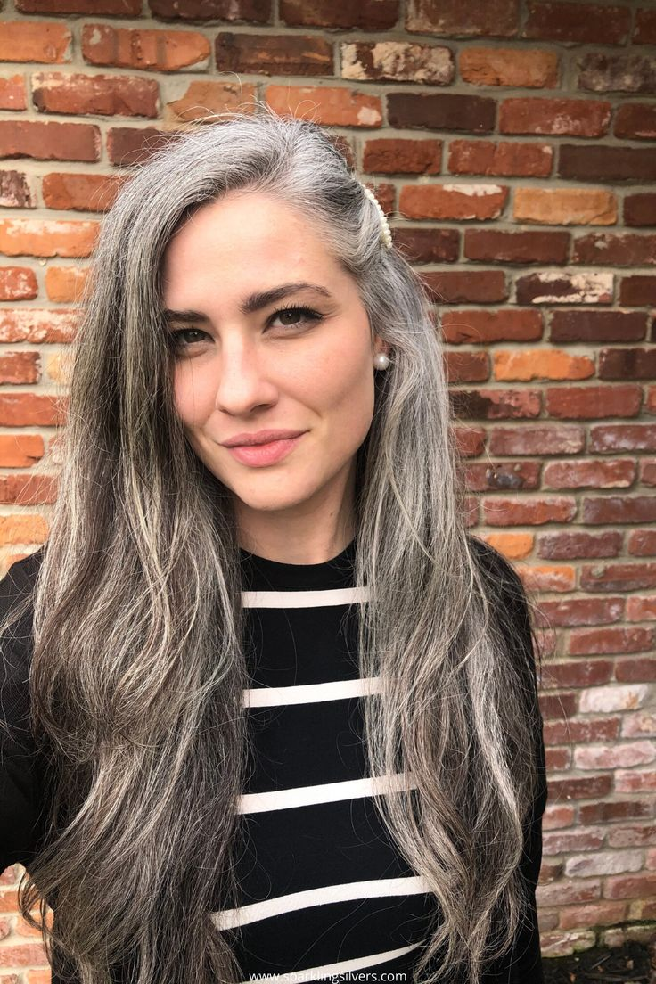 These women will amaze you with their gorgeous gray hair before and after pictures | Transition to gray hair, Long gray hair, Gorgeous gray hair