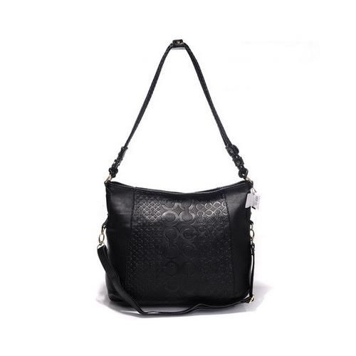 Look Here! Coach In Monogram Medium Black Crossbody Bags DGR Outlet Online
