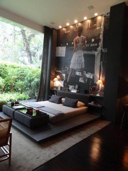 Dark bedroom but with a lot of light from the exterior. Fantastic combination!