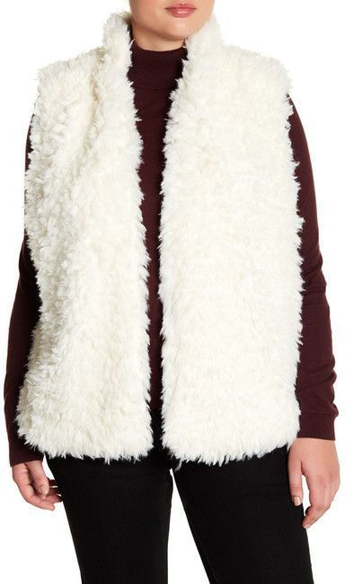 d079595f811 This super fuzzy faux fur vest is to die for! I would probably wear this  with a pink shirt and jeans and my white knit hat. Soo…