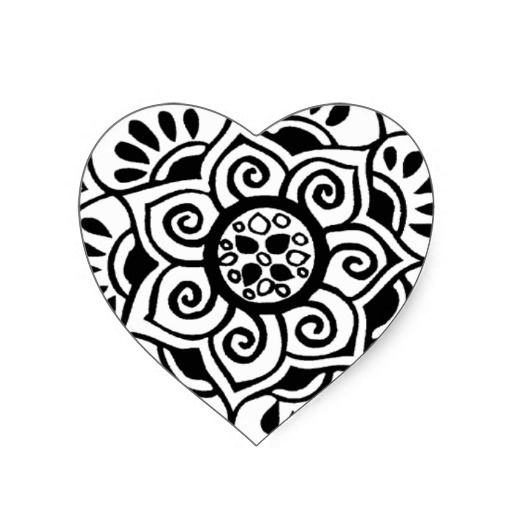 Lotus Flower Tribal Tattoo Design Stickers
