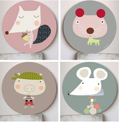 geschilderde houten borden