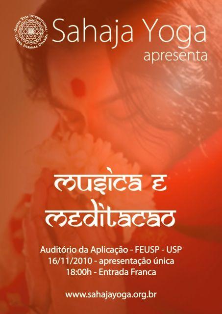 Apresentação da Sahaja Yoga e música indiana.
