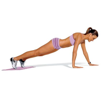 The Halter Top Workout: work abs, chest, and arms with the Walking Plank #SelfMagazine #UpperBodyWorkouts