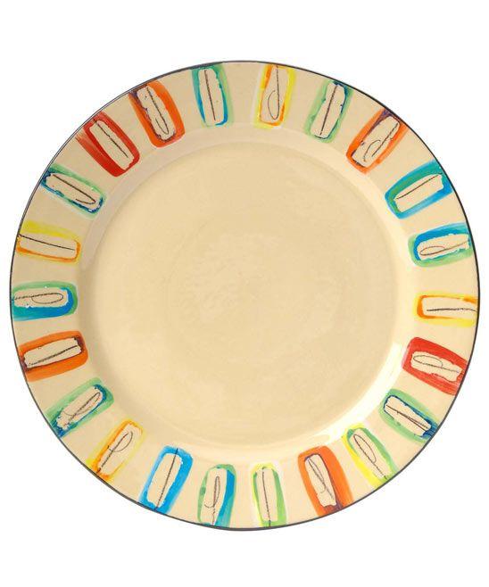 Multicoloured Dinner Plate
