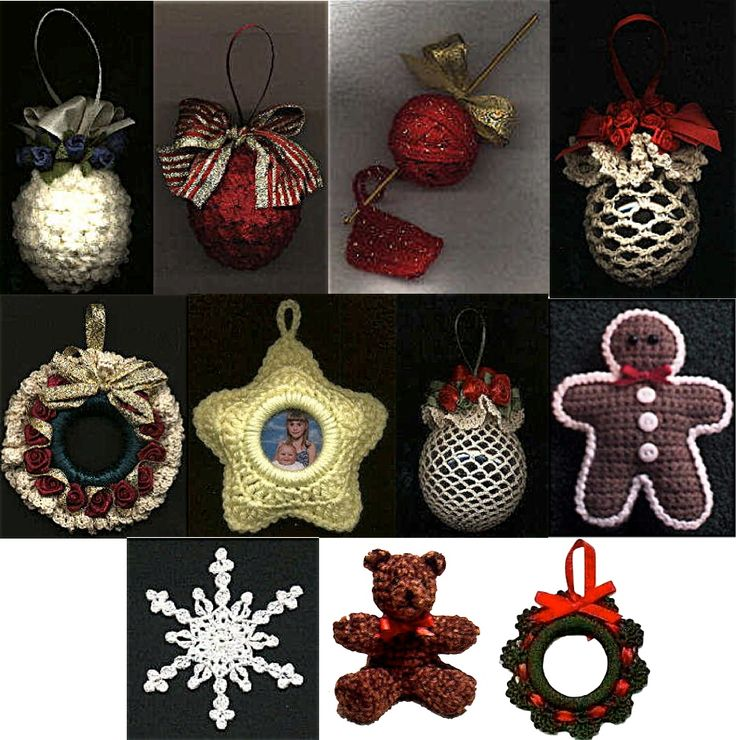 102 best adornos navide os de crochet images on pinterest - Adornos navidenos crochet ...