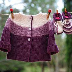 Layette ensemble naissance coton et cachemire  brassière et chaussons neuf tricoté main