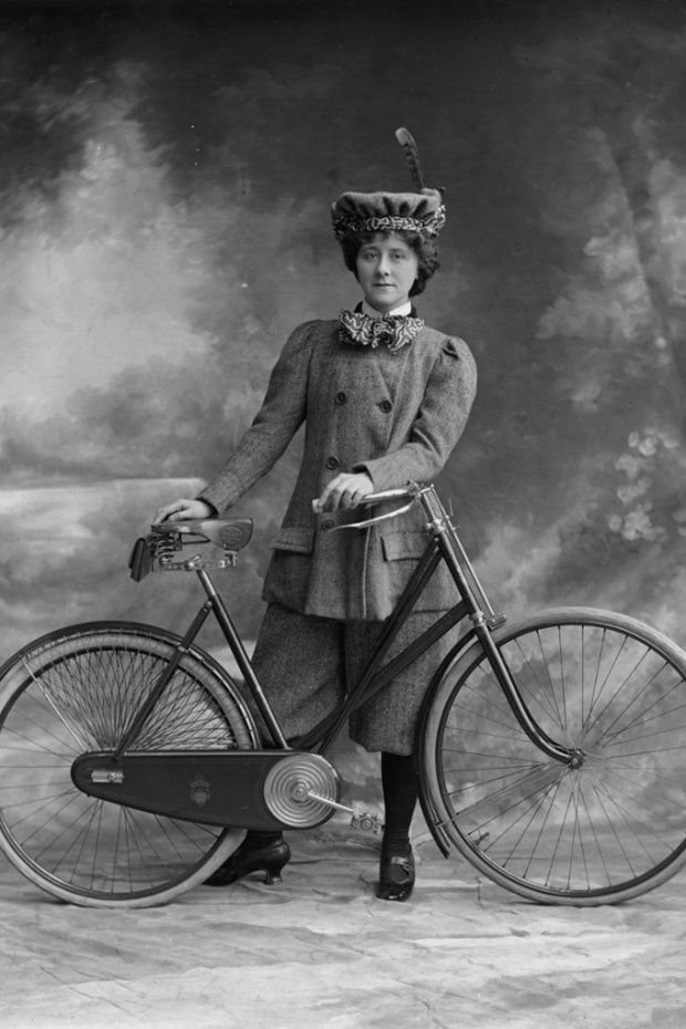 ...for women, the bicycle boom meant much more, opening up a whole new world of independence. Freed from the watchful eyes of chaperones, women were finally provided with an easy escape from the house – as well as their first opportunity to develop physical fitness – and many of them took cycling up with relish.