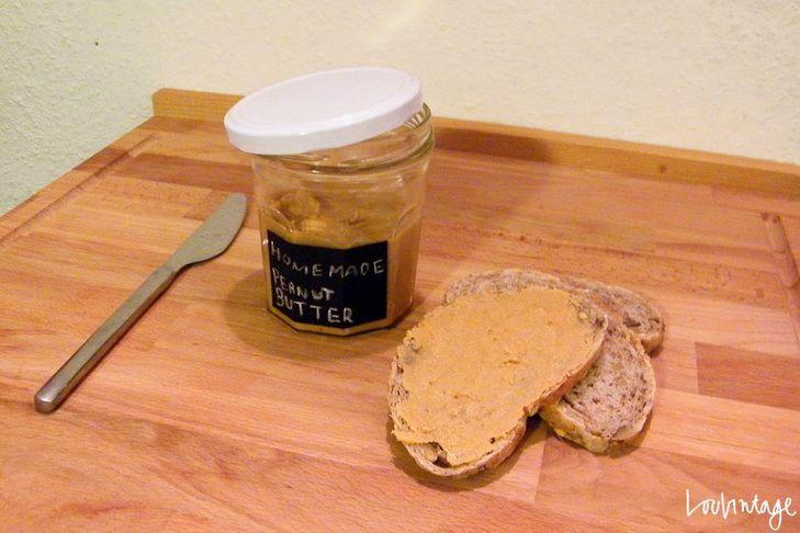 Homemade peanut butter!