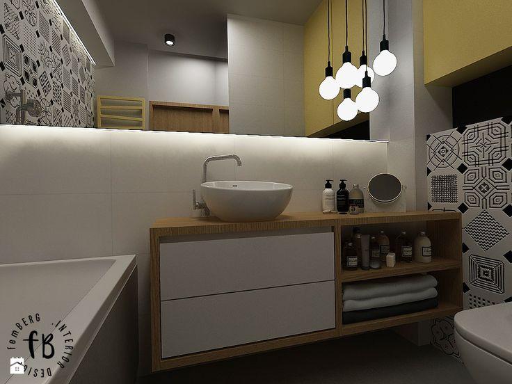 Żółty w łazience - zdjęcie od Femberg Architektura Wnętrz - Łazienka - Styl Skandynawski - Femberg Architektura Wnętrz