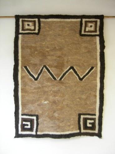 inspirered by horse blanket Navajo 1910  Neuchi Nakama Vilt    Mirjam Peeters