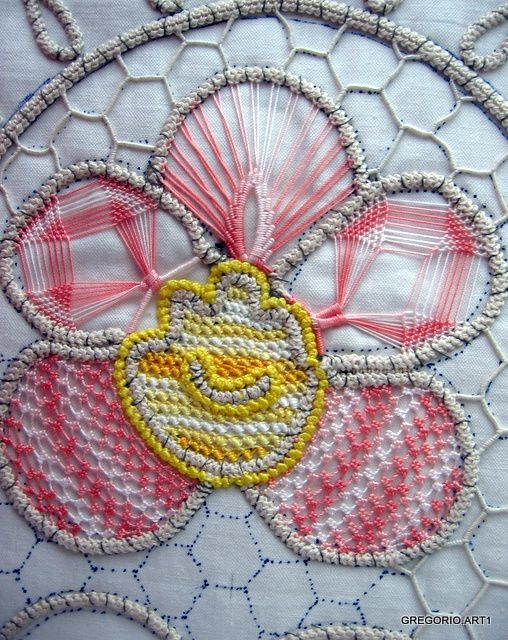 MACRAME 'ROMANIAN - POINT LACE: Dig out the Spirograph and design!