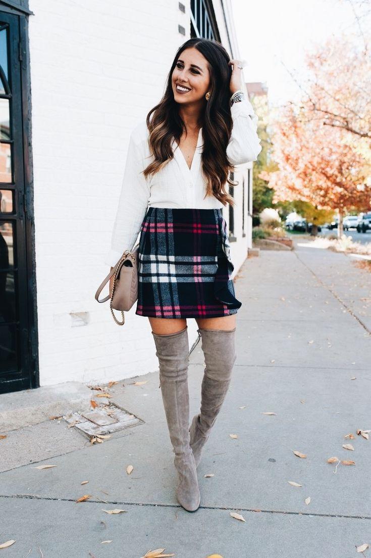 plaid holiday skirt