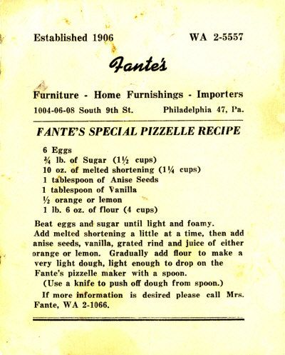 Pizzelle Recipe ... delish!