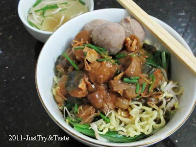 Mie Ayam Jamur & Bakso | Just Try & Taste