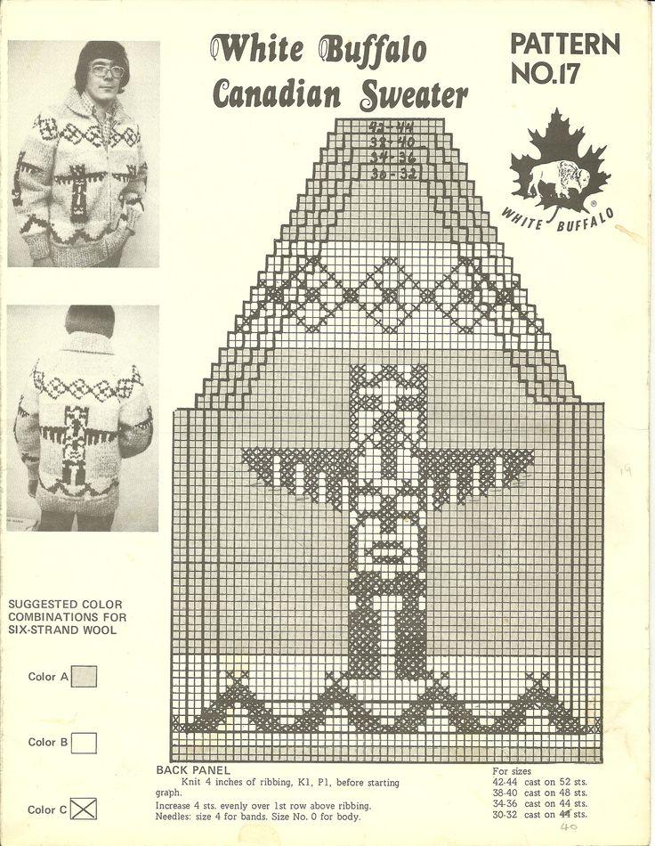 Vintage White Buffalo Cowichan-Style Sweater Patterns