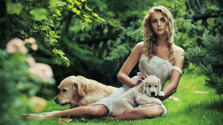 Model With Dog