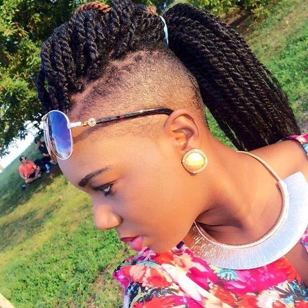 19 Fabulous Kinky Twists Hairstyles Mohawks Twist