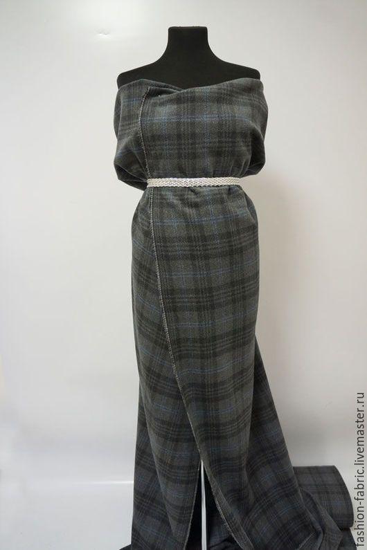 Шитье ручной работы. Ткань Пальтовая шерсть в клетку серая 6101517 Италия Цена за метр. Ткани Fashion Fabric (fashion-fabric). Ярмарка Мастеров.