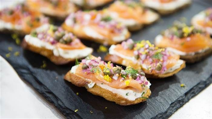 Have a sophisticated brunch with open-faced smoked salmon sandwiches TODAY SHOW