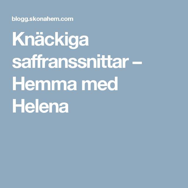 Knäckiga saffranssnittar – Hemma med Helena