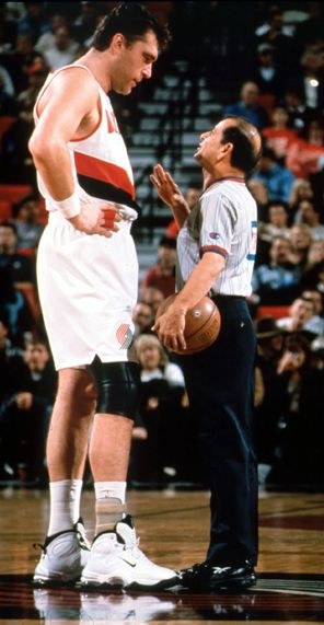 Sabonis, Blazers Basketball. He was really skilled but didn't come to the NBA until after playing in Europe for years and was older and banged up